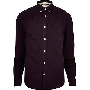 Dark purple twill shirt