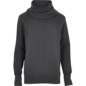 Dark grey cowl neck sweatshirt