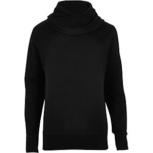 Black cowl neck sweatshirt