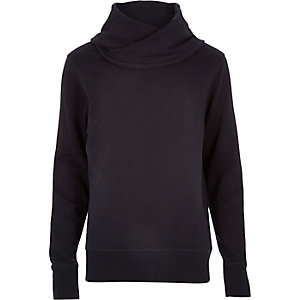 Navy cowl neck sweatshirt