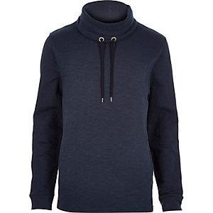 Navy cowl neck sweatshirt