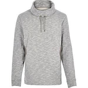 Grey marl cowl neck sweatshirt