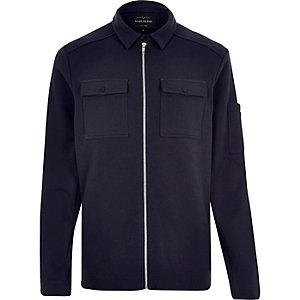 Navy shirt jacket