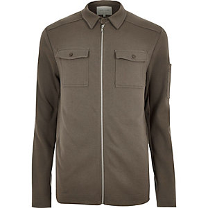 Brown shirt jacket