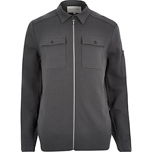 Dark grey shirt jacket