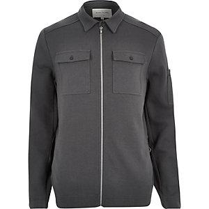 Dark grey shirt jacket