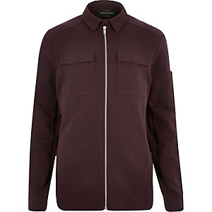 Dark red shirt jacket