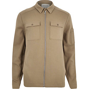 Light brown shirt jacket