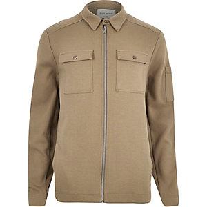Light brown shirt jacket