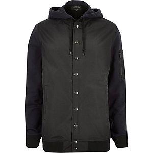 Navy hoodie bomber jacket