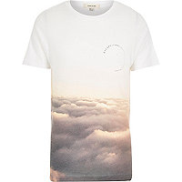 White cloud print t-shirt