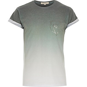 Khaki faded NYC print t-shirt