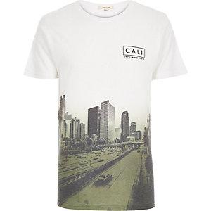 Khaki Cali faded print t-shirt