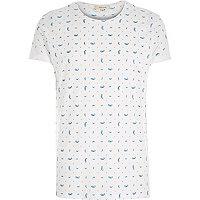 White mini paisley print t-shirt