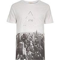 Grey NYC triangle print t-shirt