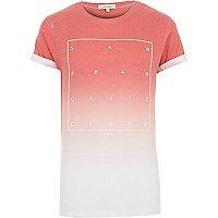 Red faded San Fran print t-shirt