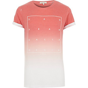 Red faded San Fran print t-shirt