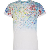 White paint splatter t-shirt