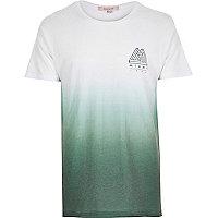 Green faded Miami print t-shirt