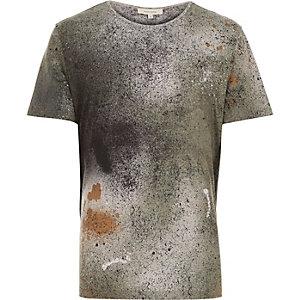 Green spray paint t-shirt
