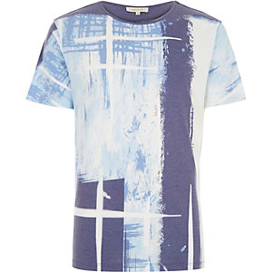 Blue paint stroke t-shirt
