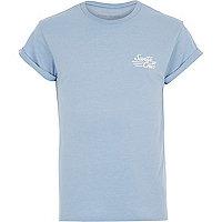 Light blue Santa Cruz 85 print t-shirt