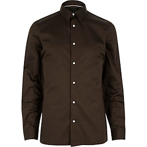Chocolate brown long sleeve shirt
