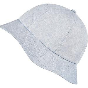 Blue light denim bucket hat