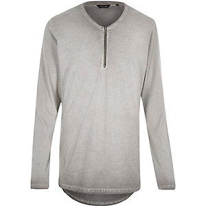 Grey Only & Sons zip front top