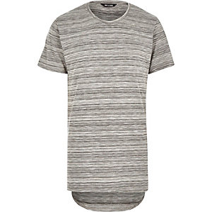Grey Only & Sons longer length t-shirt
