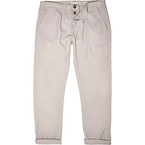 Light grey casual cuffed trousers