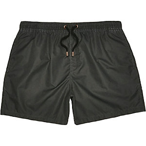 Washed black swim shorts