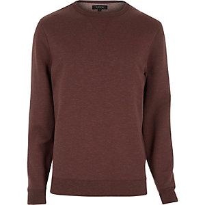 Dark orange split hem sweatshirt