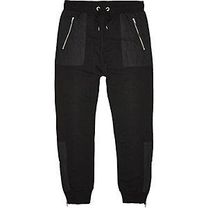 Black mesh pocket joggers