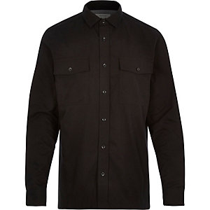 Black utility long sleeve shirt