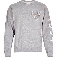 Grey marl Chicago sweatshirt