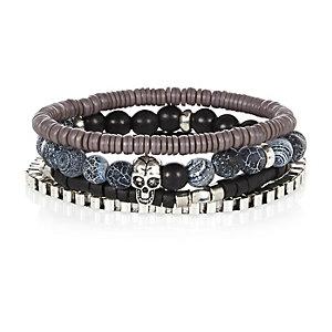 Black skull 4 pack bracelets