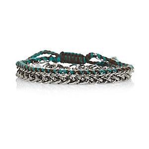 Metal 2 pack minimal chain bracelets