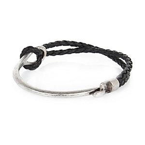 Black metal bracelet