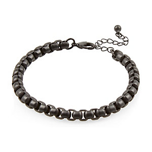 Black matt chain bracelet