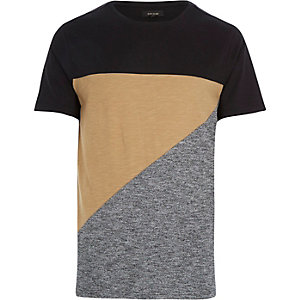Brown block colour t-shirt