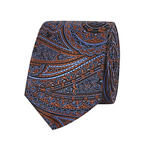 Dark brown paisley tie