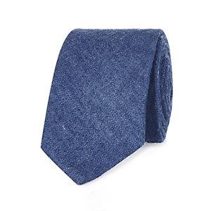 Navy denim tie
