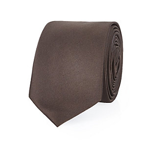 Chocolate brown tie