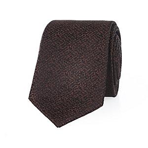 Orange brown textured tie