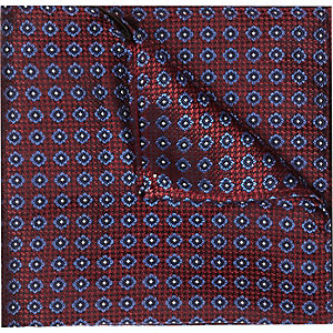 Red geo pocket square