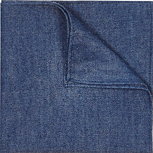 Blue denim pocket square