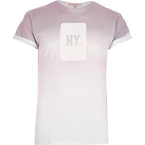 Pink faded NY print t-shirt