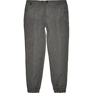 Grey smart jogger trousers