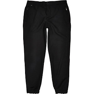 Black smart jogger trousers